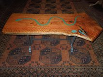 Coffee table- Juniper inlaid with Azurite.. Reduced in Alamogordo, New Mexico