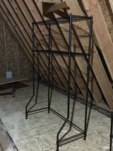 Shelving unit for over a twin bed metal in Chicago, Illinois