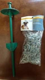 Dog tie out chain & stake, new in Fort Riley, Kansas