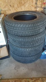 Set of tires and rims 215/70 R15 in Chicago, Illinois