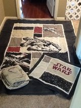 Star Wars twin quilt, pillow sham and decorative pillow in Conroe, Texas