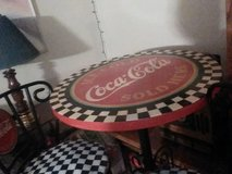 2 chair Coca-Cola and table in Yucca Valley, California