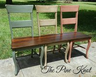Benches Made from Old Chairs in Fort Polk, Louisiana