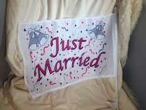 """NEW """"Just Married"""" car flag in Vacaville, California"""