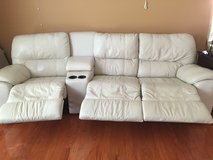 Leather 3 bodies recliner plus two consoles in Hinesville, Georgia