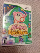 Wii Kirby's Epic Yarn game excellent and getting harder to find in Fort Riley, Kansas