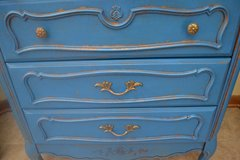 Shabby Rustic Distressed Vintage Hall Entry Accent Chest Dresser Table~ Peacock in Bolingbrook, Illinois