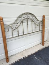 Queen Wood/Metal Headboard in Aurora, Illinois