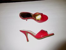 "NEW RED HOT RAMPAGE HEELS SIZE 8 M...4"".VERY SEXY HEELS SLIP ON RED HOT in Shorewood, Illinois"