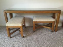 Vtg Drexel Heritage Sofa Table with 2 Stools in Kingwood, Texas