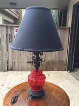 Red Glass Table Lamp in Kingwood, Texas