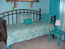 Daybed & Nightstand/IRON/Twin Mattress in Elgin, Illinois