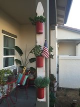 Hanging succulent planter; succulents; fencepost planter in Vista, California