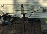 Nice wrought iron and glass top table in Naperville, Illinois