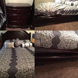 Queen bed frame and nightstand in Lawton, Oklahoma