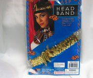 Gold Sequin Cleopatra Snake Asp Head Band Egyptian Halloween Costume Candy Corn in Houston, Texas
