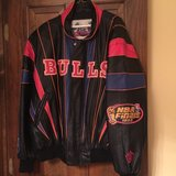 "Chicago Bulls ""repeat 3 peat"" Leather Jacket in Naperville, Illinois"