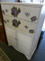 Chest of Drawers wViolets in Cherry Point, North Carolina