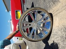 24 inch chrome wheels and tires in Alamogordo, New Mexico