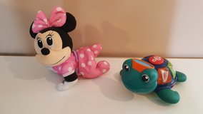 crawling minnie mouse and baby einstein turtle in Morris, Illinois