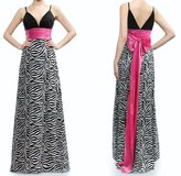 GOWN, ZEBRA PATTERN WITH LONG PINK BOW, NWT in Lakenheath, UK