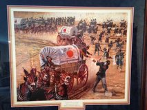 "Don Stivers Limited Edition Framed Signed and Numbered Civil War Print ""SERVICE ON TIME"" in Fort Leonard Wood, Missouri"