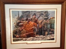 "Don Stivers Limited Edition Framed Signed and Numbered World War II Print ""FIRST AT NORMANDY"" in Fort Leonard Wood, Missouri"