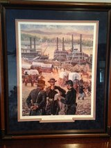 "Don Stivers Limited Edition Framed Signed and Numbered Civil War Print ""GATEWAY TO VICTORY"" in Fort Leonard Wood, Missouri"