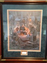 "Mort Kunstler Limited Edition Framed Signed and Numbered Print ""LETTER FROM HOME"" in Fort Leonard Wood, Missouri"