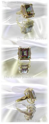 10K Yellow Gold Mystic Topaz and Diamond ring approx 7.99ctw, Size 6 in Camp Lejeune, North Carolina