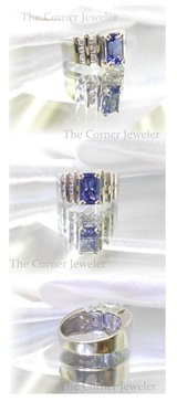 14K White Gold Tanzanite and Diamond, approx 1.5ctw Ring, Size 5.5 in Camp Lejeune, North Carolina