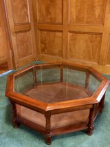 Coffee Table Octagon with Glass Top in Kingwood, Texas