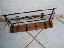 wood/wrought iron shelf with hooks in Stuttgart, GE