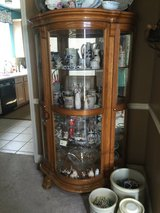 Beautiful Oak Curio Cabinet in Biloxi, Mississippi