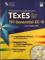 Teacher TExES191 EC-6th generalist book in Conroe, Texas