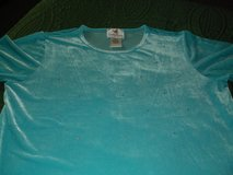 QUACKER FACTORY AQUA PULL-OVER TOP SIZE LARGE in Alamogordo, New Mexico