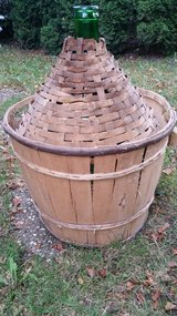 Italian very large demi John with basket. Use with or without out. in Wiesbaden, GE