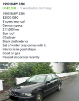 1999 BMW 520i in Wiesbaden, GE
