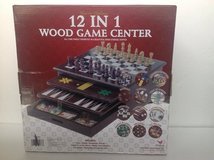 CARDINAL GALLERY 12 IN 1 WOOD GAME CENTER ( BRAND NEW ) in Aurora, Illinois