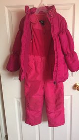 Hot pink snow suit in Colorado Springs, Colorado