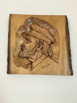 J.B. Gourde, Relief Woodcarving in Lockport, Illinois