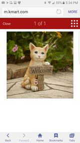 Welcome kitten statue new in New Lenox, Illinois