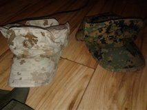REDUCED! TWO USMC MARPAT GARRISON COVERS, GREAT CONDITION, 1 WOODLAND, 1 DESERT SIZE SMALL in Cherry Point, North Carolina