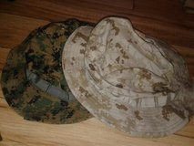 REDUCED!  TWO USMC MARPAT BOONIE COVERS NEW WITH TAGS 1 WOODLAND 1 DESERT SIZE SMALL in Cherry Point, North Carolina