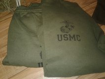 REDUCED! USMC SWEAT TOP AND BOTTOM, SIZE M GREAT CONDITION in Cherry Point, North Carolina