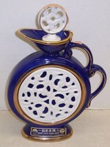 1981 COBALT BLUE JIM BEAM REGAL CHINA EXECUTIVE DECANTER BOTTLE BOXED in Kingwood, Texas