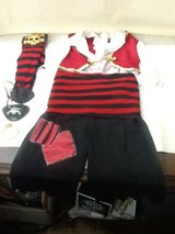 Kids Pirate Costume By California Costume - M (3-4) 7 Pieces in Spring, Texas