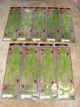"HALLOWEEN NEW IN PACKAGE ""GREEN SKELETON"" GEL CLING ONS SET OF 8 in Camp Lejeune, North Carolina"