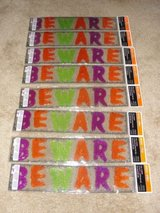 "HALLOWEEN NEW IN PACKAGE ""BEWARE"" GEL CLING ONS in Camp Lejeune, North Carolina"