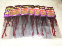 "NEW HALLOWEEN ""DRIPS OF BLOOD"" 3D 18"" WIDE GEL CLING ONS SET OF 3 in Camp Lejeune, North Carolina"